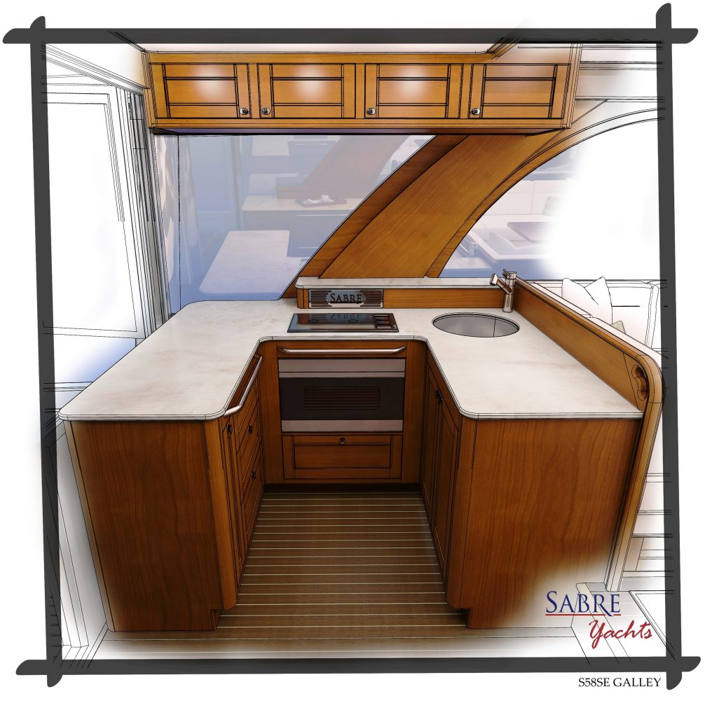 Sabre 58 Salon Express has a new galley design